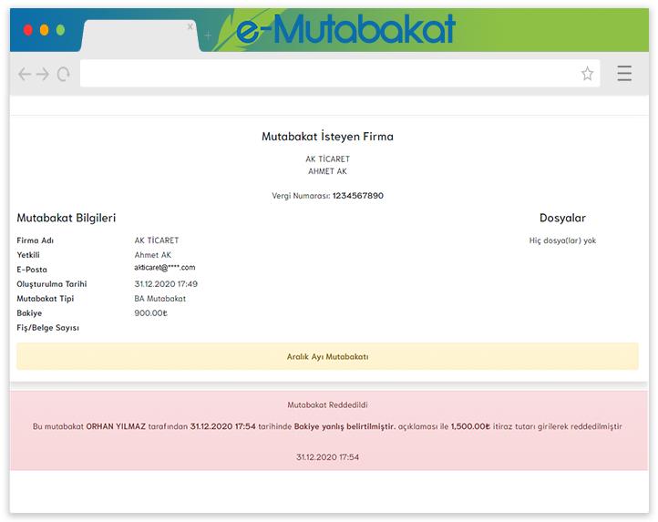 AKINSOFT E-Mutabakat sonuçlandır